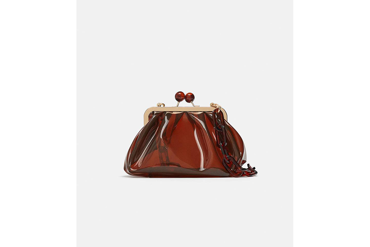 Zara Vinyl Crossbody Bag
