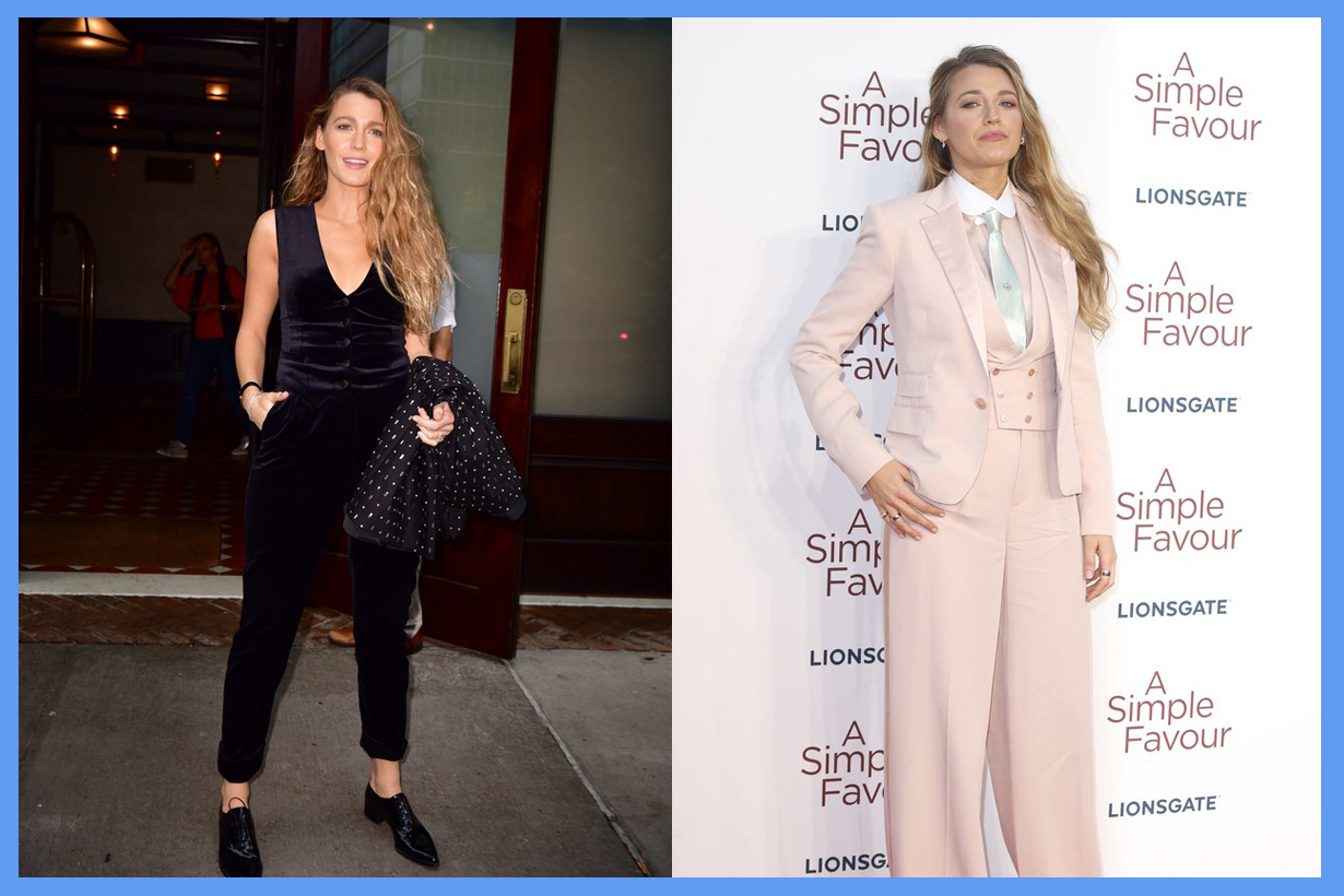 Blake Lively Wearing skirts after months dior paris a simple favor suits style instagram comments