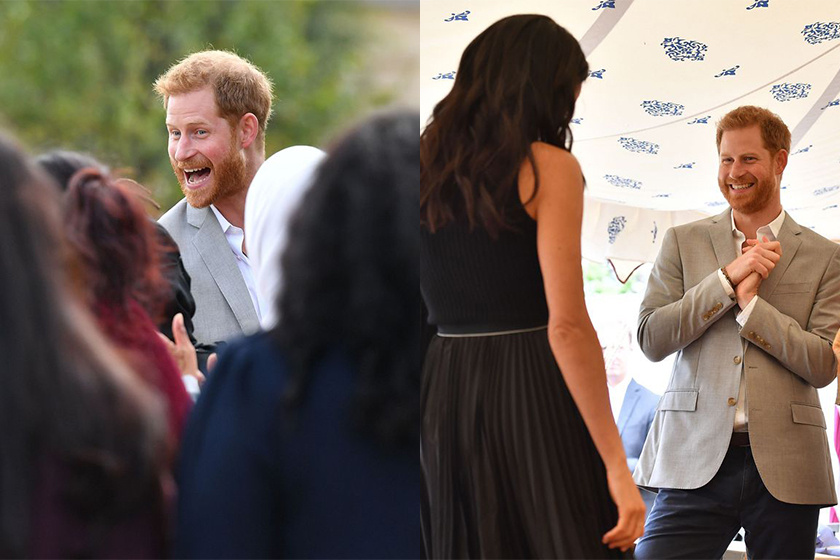 prince harry supports meghan markle cookbook launch