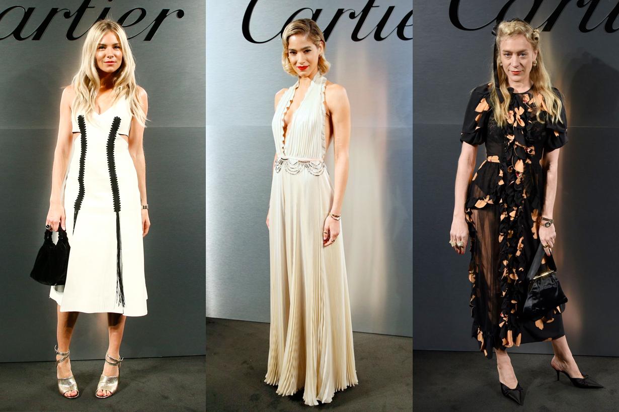 Cartier Santos Sienna Miller secret watch women Sofia Boutella classic