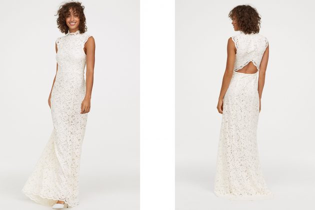 蕾絲長洋裝-HK$1,790.00