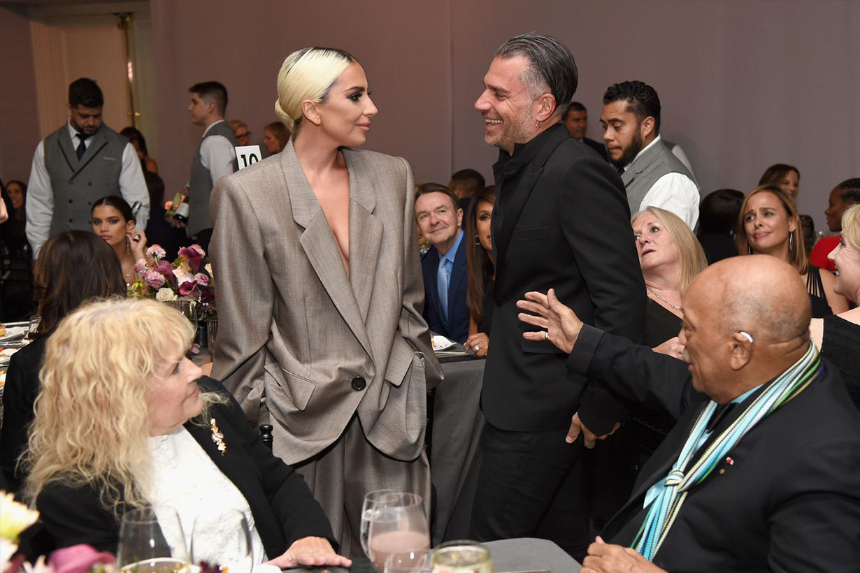 lady gaga confirms engagement to christian carino in the Elle's speech