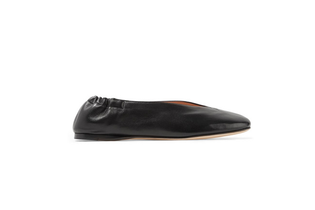 Acne Studios Odry Leather Ballet Flats