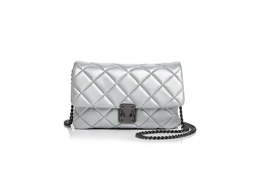 Aqua Diamond Quilt Mini Bag