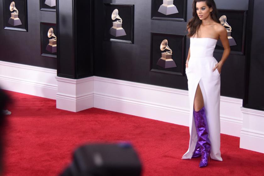 Hailee Steinfeld's Purple Boots