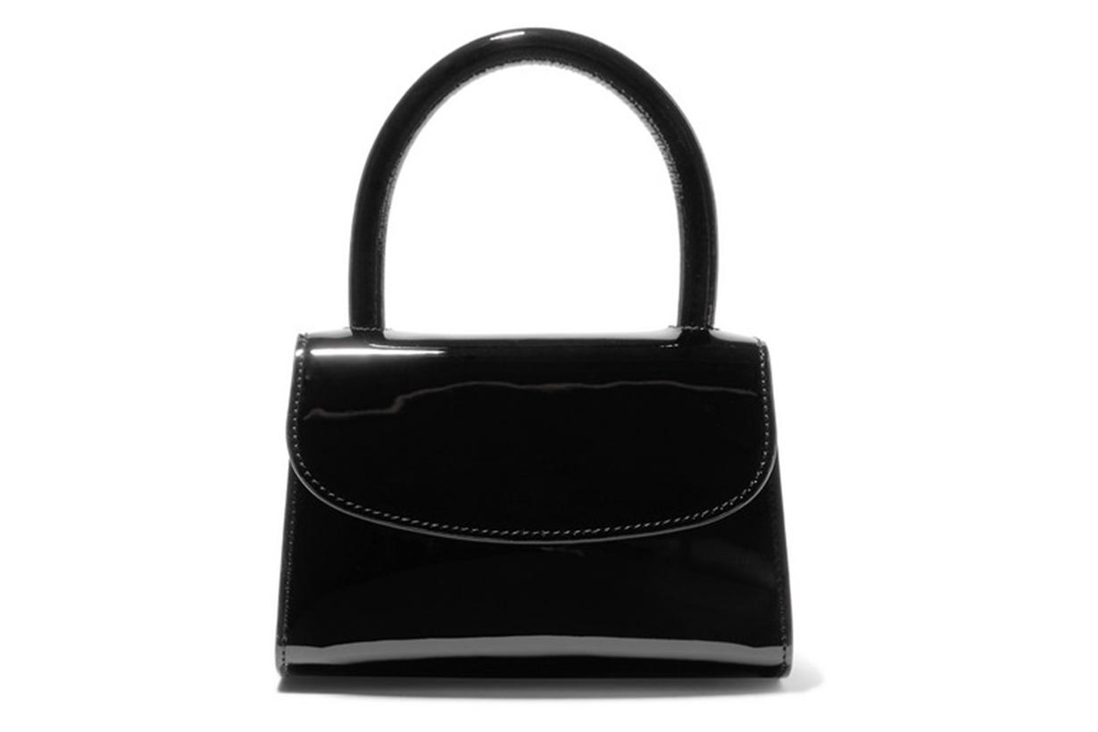 By Far Mini Patent-Leather Tote