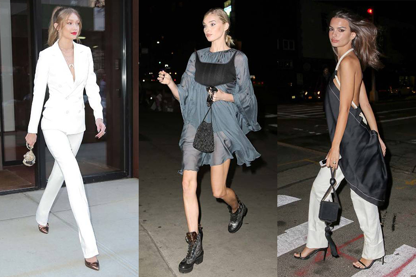 Gigi Hadid, Emily Ratajkowski and Elsa Hosk Cocktail-style drawstring bag