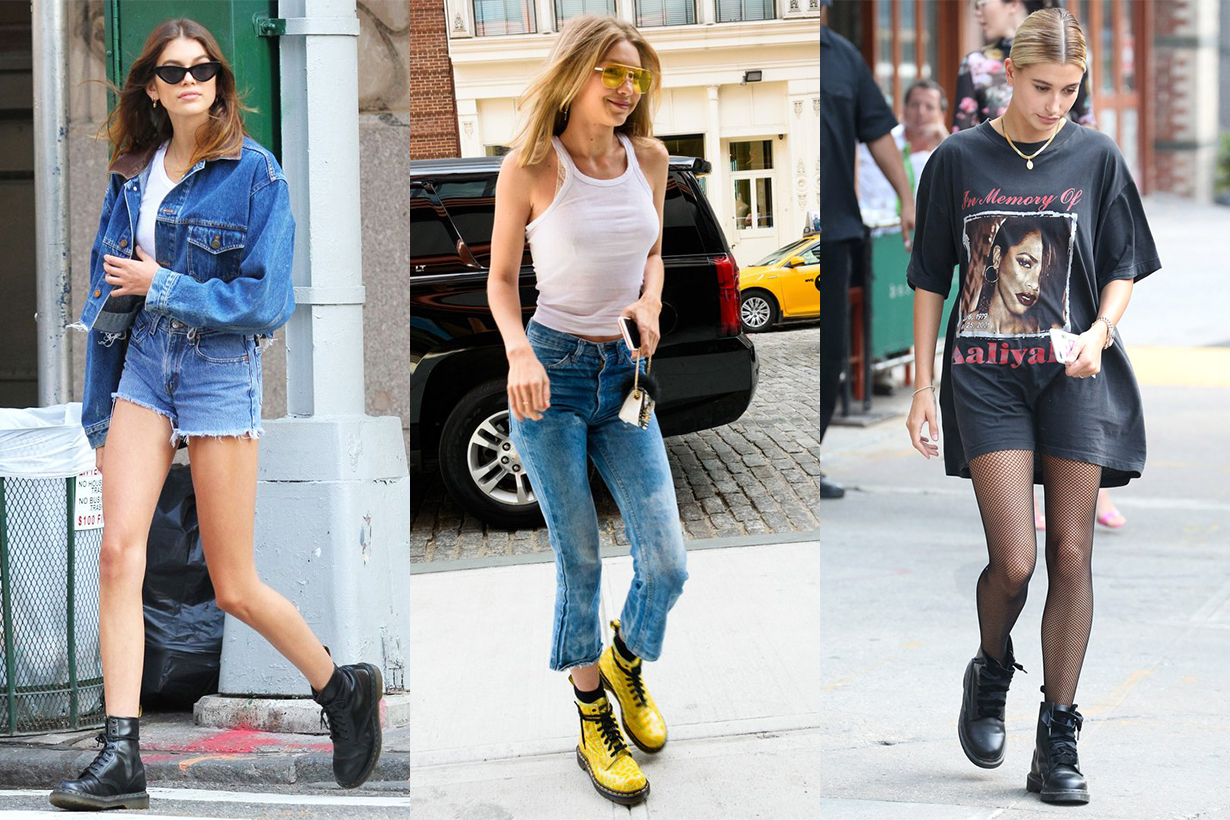 Dr Martens Street Style Gigi Hadid, Kaia Gerber, and Hailey Baldwin