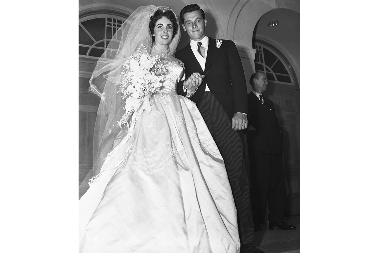 Elizabeth Taylor's First Wedding Dress