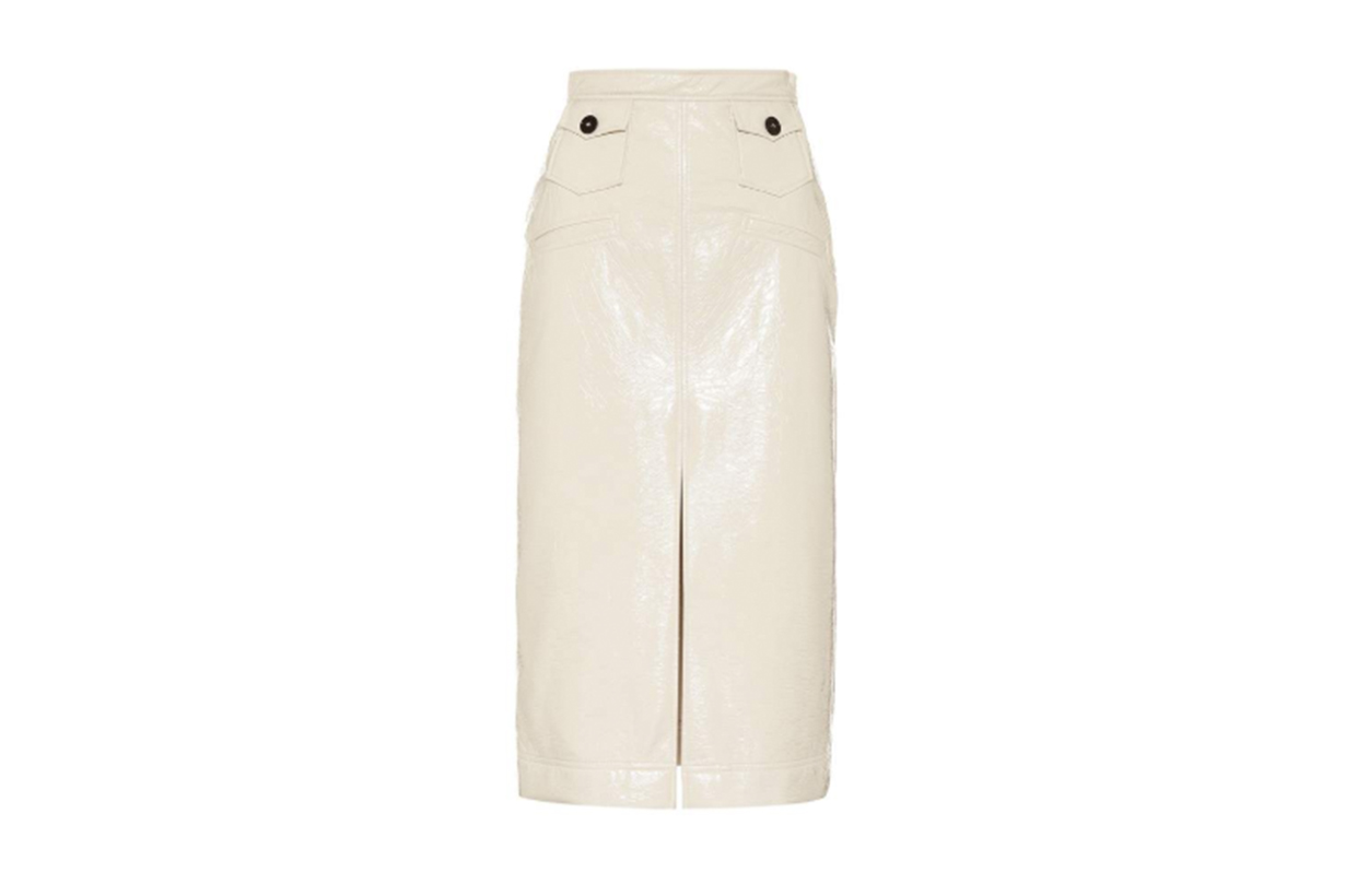 Alexa Chung Faux-leather-pencil-skirt
