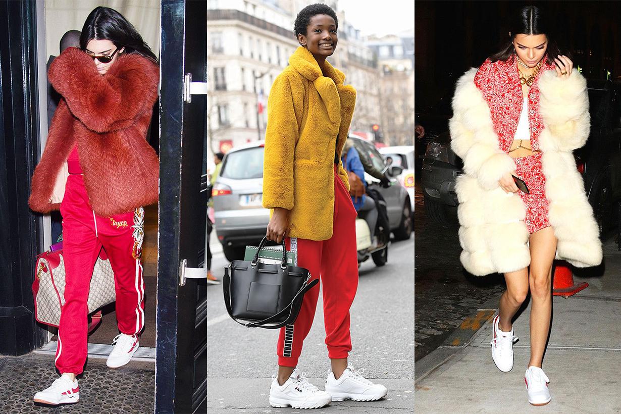 Fila Sneakers Street Style Kendall Jenner