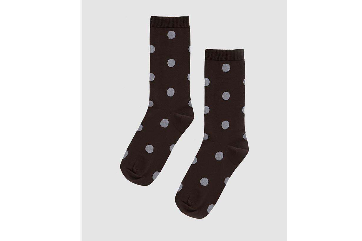 Ganni Classon Dot Socks in Ganache