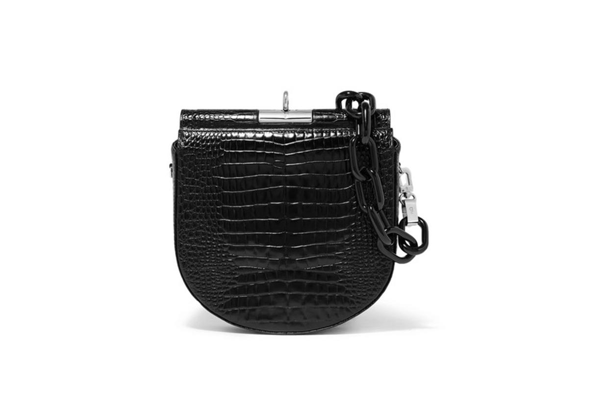 Gu_de Demi Lune Croc-effect Leather Shoulder Bag