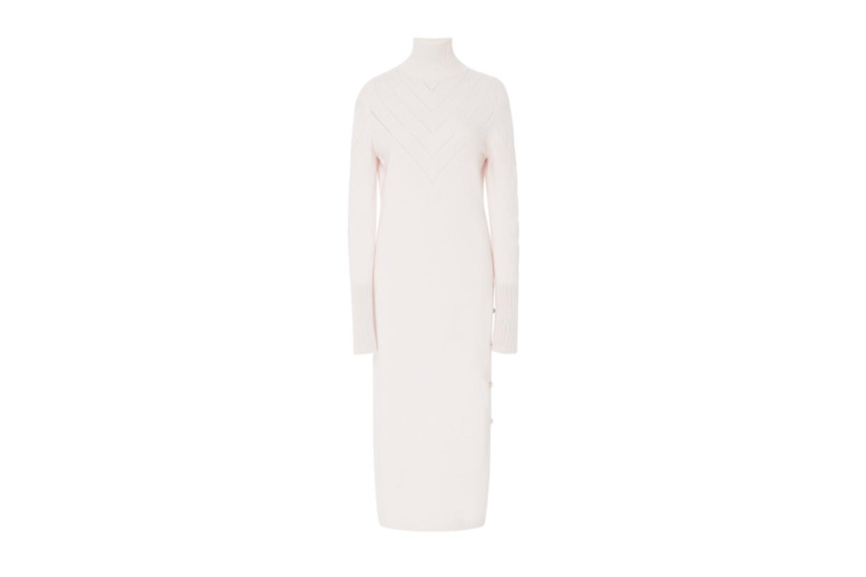 Barrie Harmony Turtleneck Cashmere Midi Dress