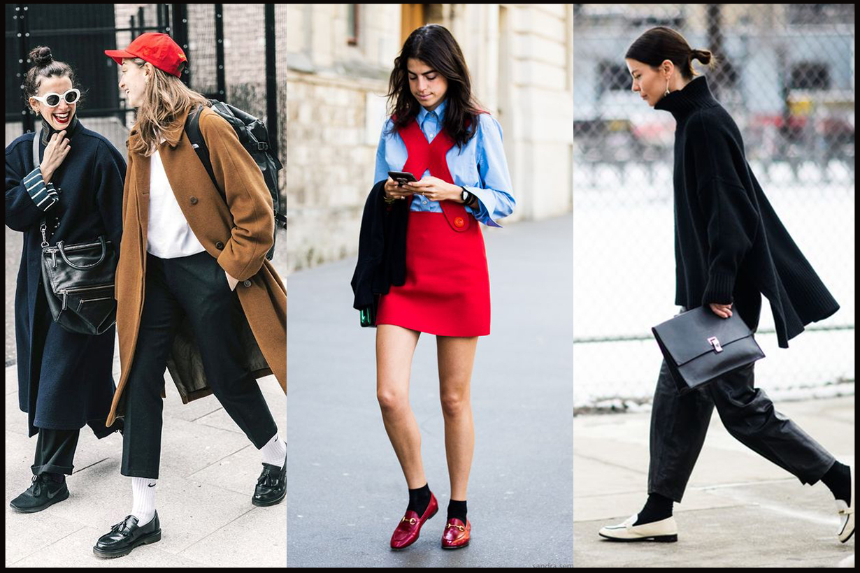 Loafers with Socks Street Style