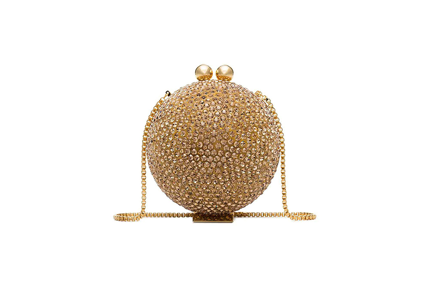 Marzook Halograph Crystal Orb Clutch