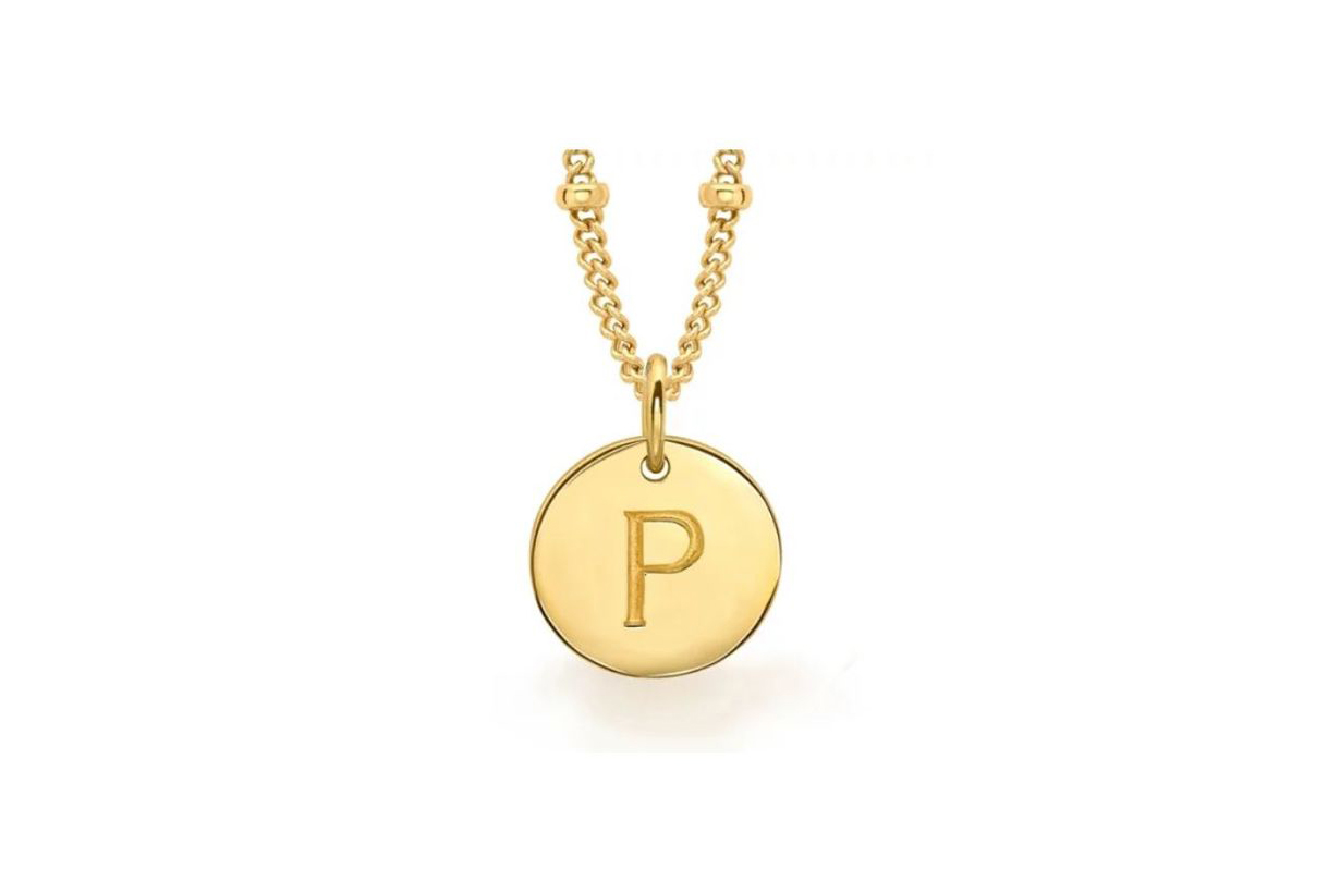 Missoma Gold P Initial Necklace