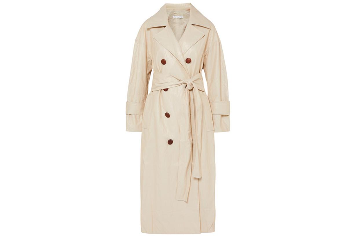 REJINA PYO Oli crinkled-vinyl trench coat