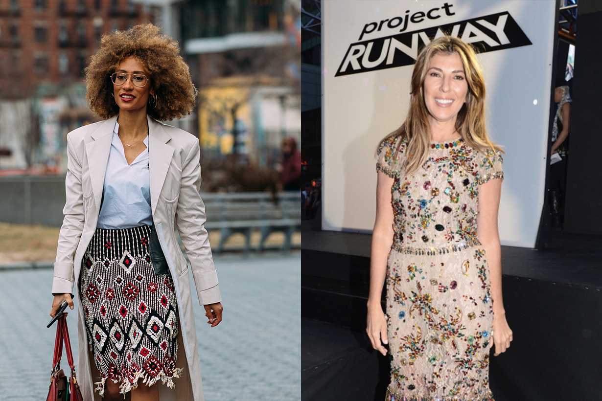 Elaine Welteroth and Nina Garcia for Project Runway