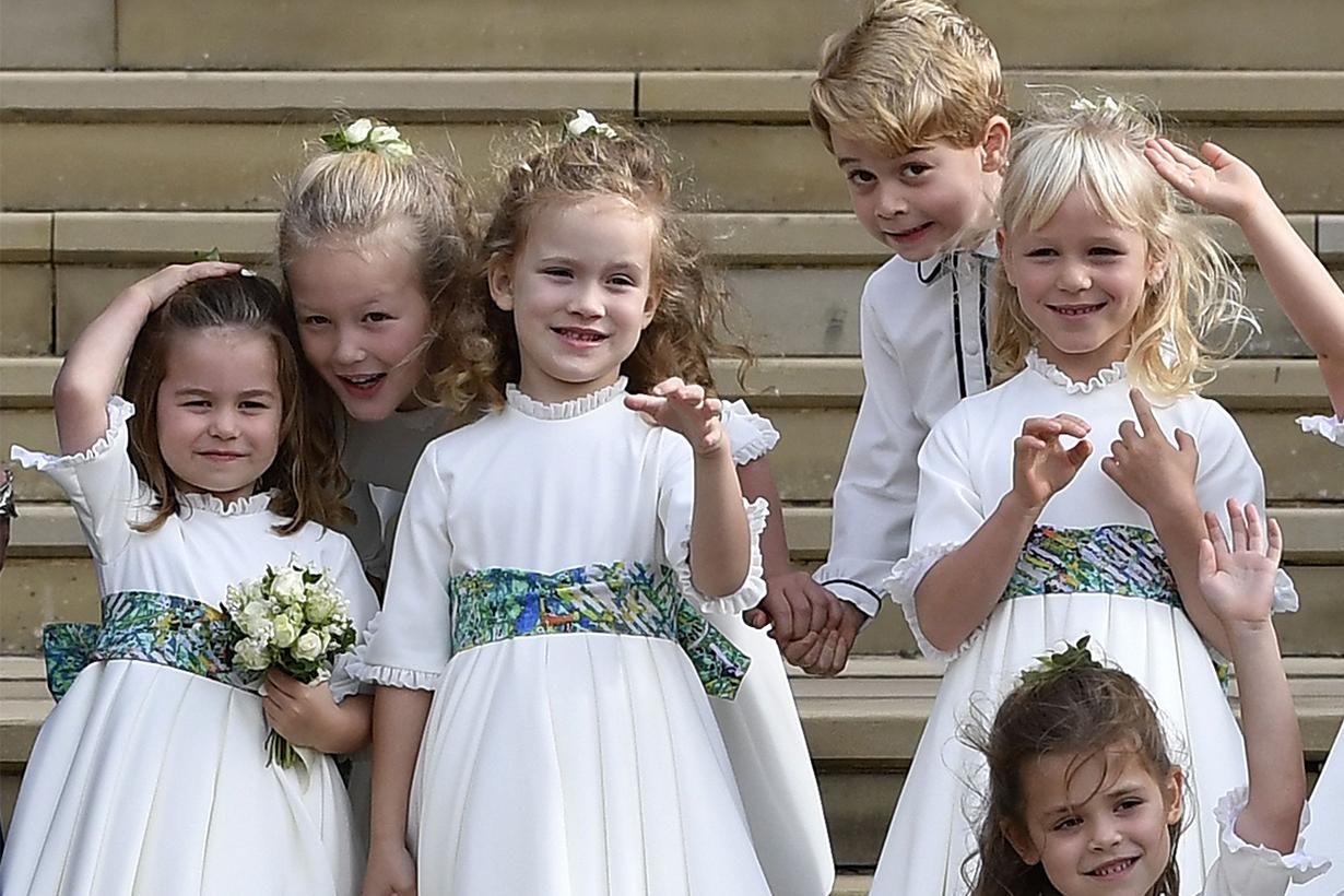 Princess Charlotte Arrived at Princess Eugenie's Wedding