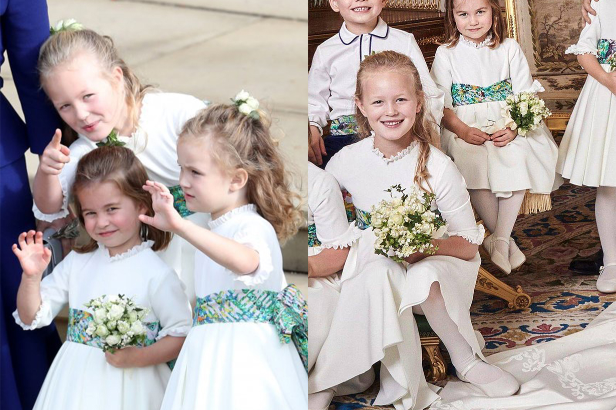 Savannah Phillips Stepping on bridal dress