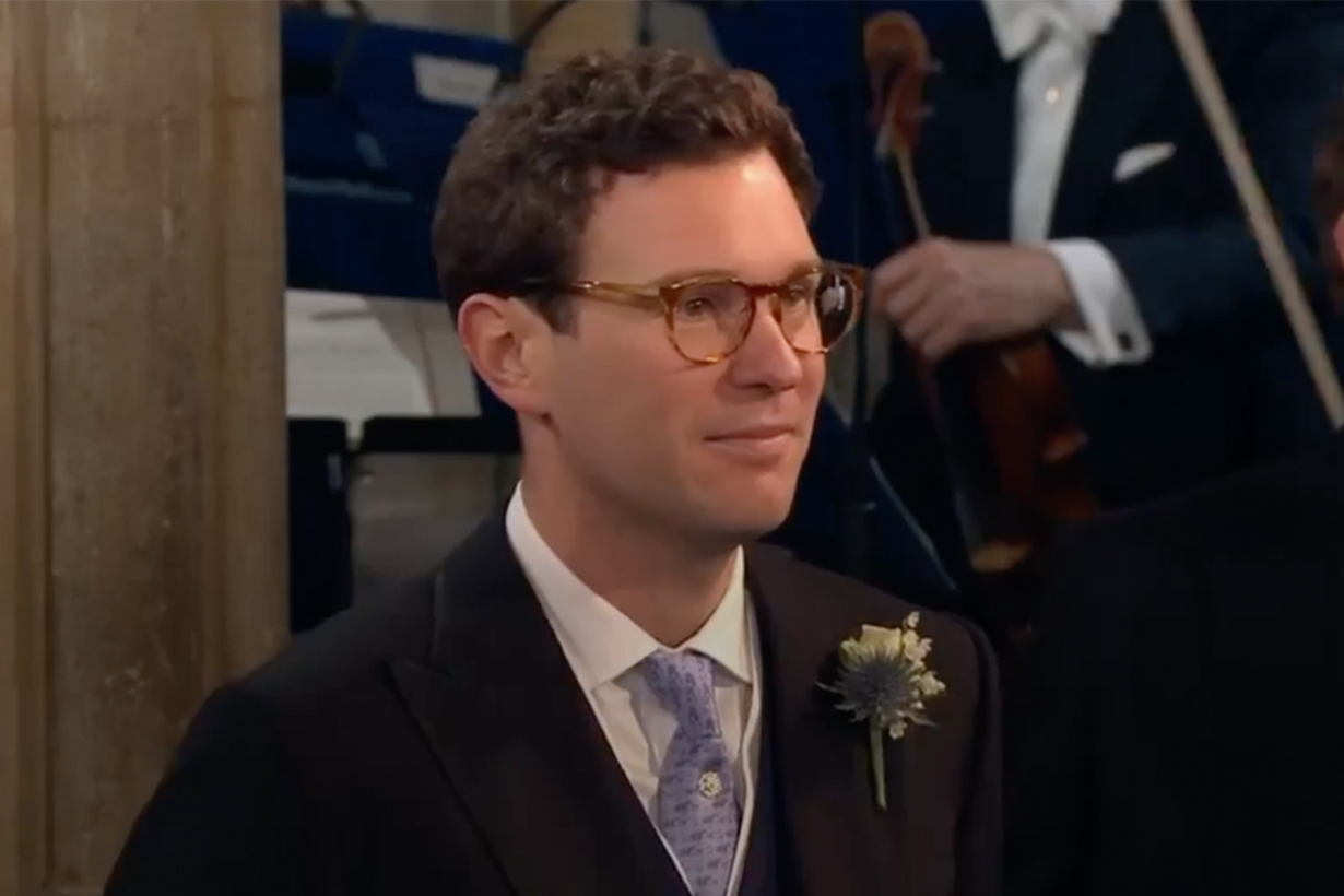 Princess Eugenie's Wedding Jack Brooksbank wore glasses