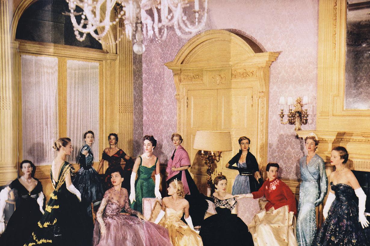 Queen Elizabeth II's coronation parade shot in Norman Hartnell's grand salon