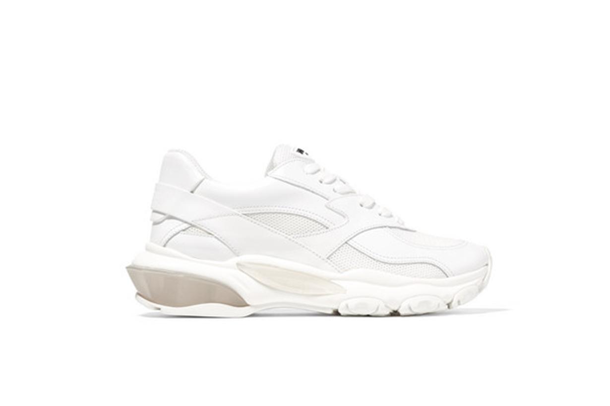 Valentino Garavani Bounce leather and mesh sneakers