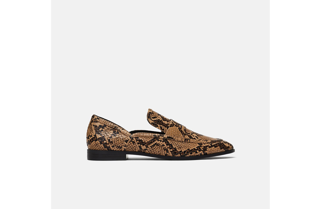 Zara Printed Loafers