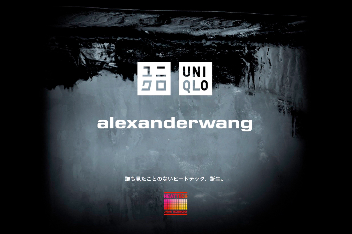 alexander wang uniqlo unveil collabration date items