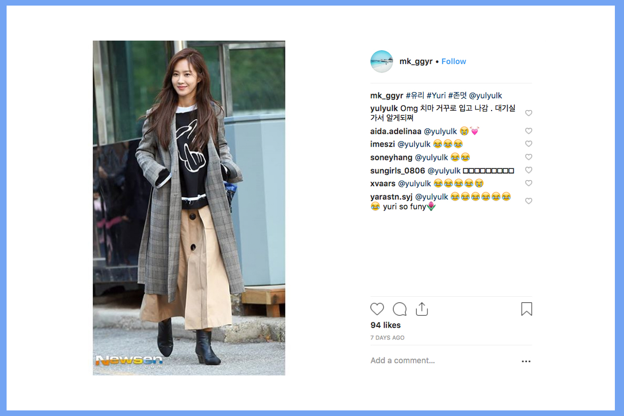 Yuri Kwon Girls Generation SNSD OGG The First Scene Into You Skirt Music Bank instagram comments