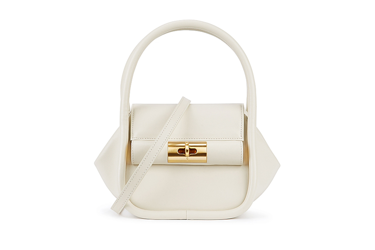 GU_DE  Love ivory leather top handle bag