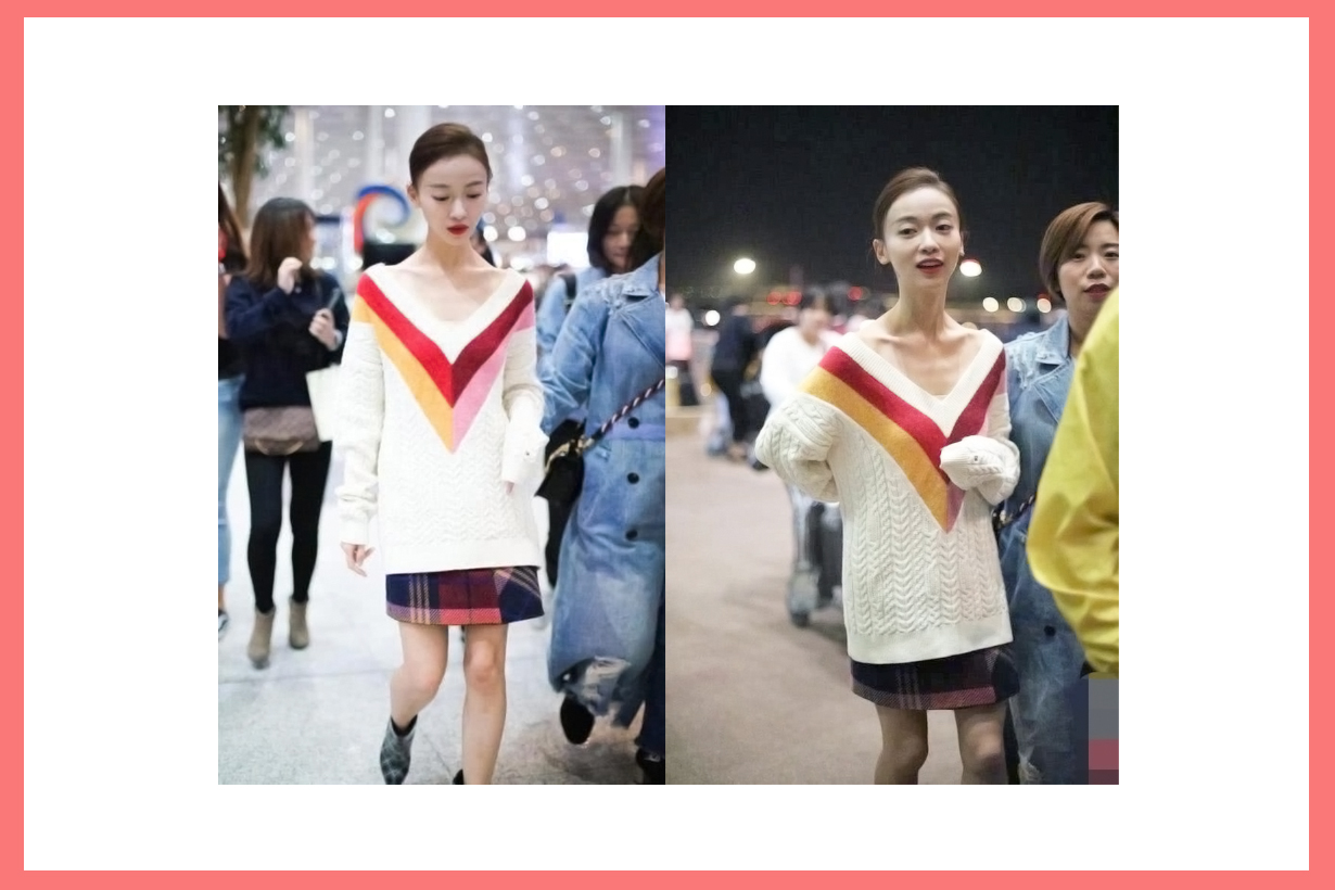 Wu Jin Yan Wei Ying Luo Super skinny photos weibo under weight keep fit tips