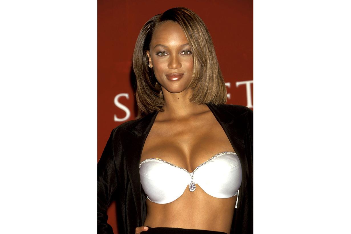 "Tyra Banks in the ""Diamond Dream Bra 1997 Victoria's Secret Model"