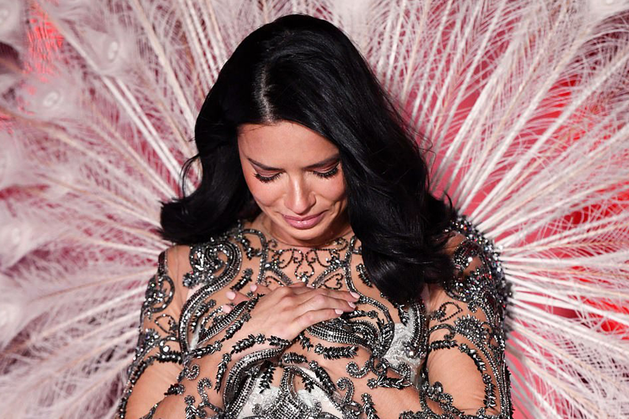 Adriana Lima breaks down in TEARS while on Victoria's Secret runway 2018
