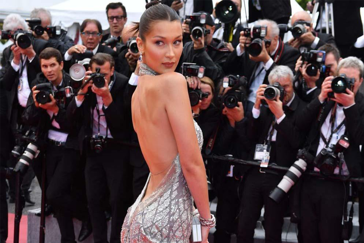 Bella Hadid Red Carpet Too Thin