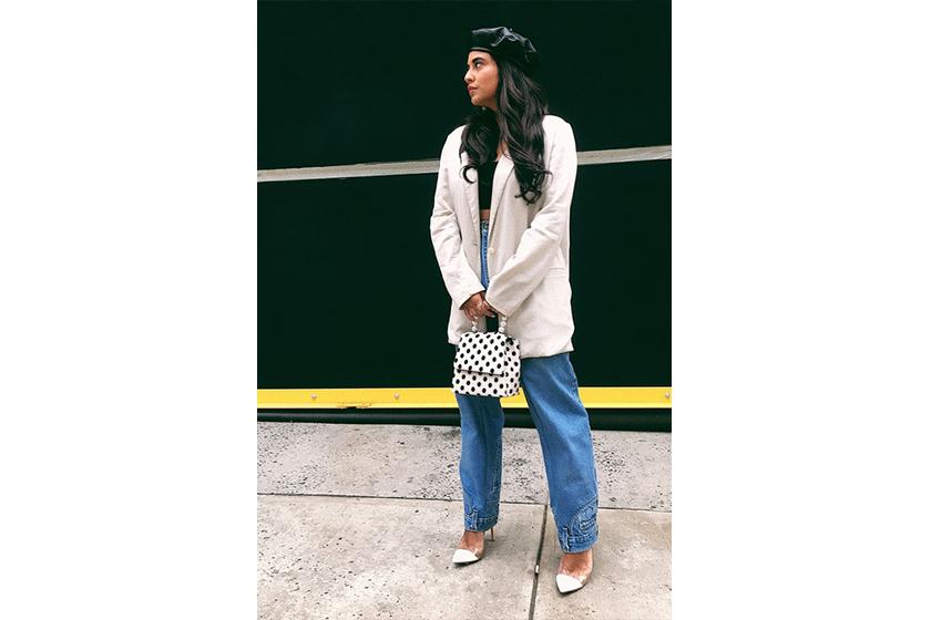 Blazer Baggy Jeans Street Style