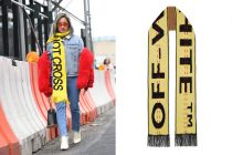 How To Wear a Scarf Off-White Intarsia Wool-blend Scarf Winter Street Style