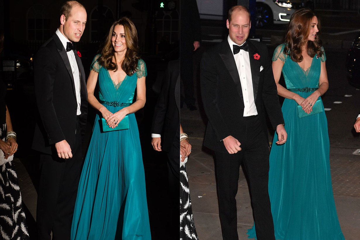 Kate Middleton Rewore Her 2012 Jenny Packham Gown With Prince William at the Tusk Conservation Awards