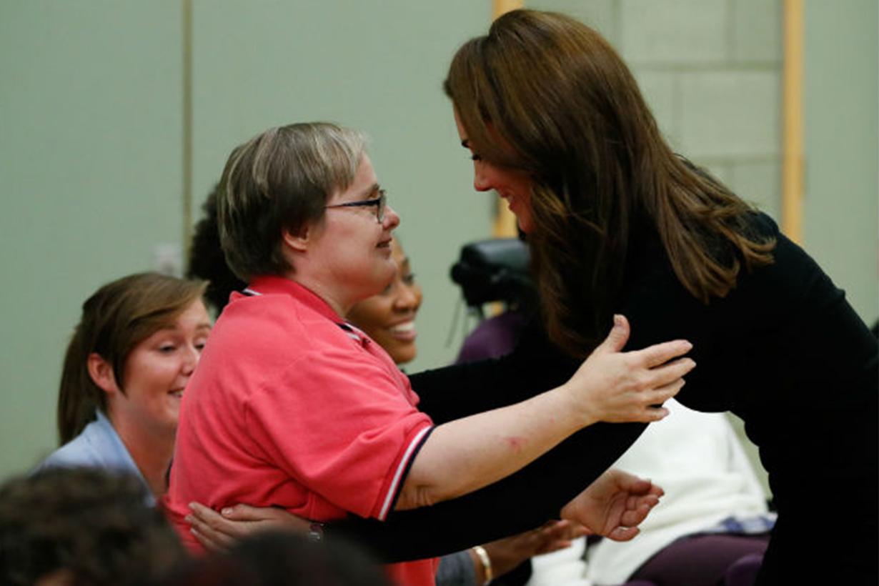 Kate Middleton told Janet Emery she tells her children hugs are important