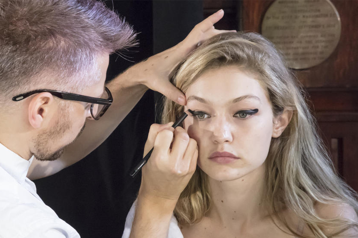 Gigi Hadid Backstage Makeup