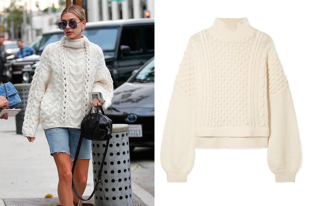 Frame Nubby Wool-blend Turtleneck Sweater Chunky Knitwear Street Style
