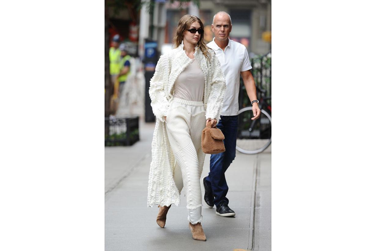 Gigi Hadid All White Street Style