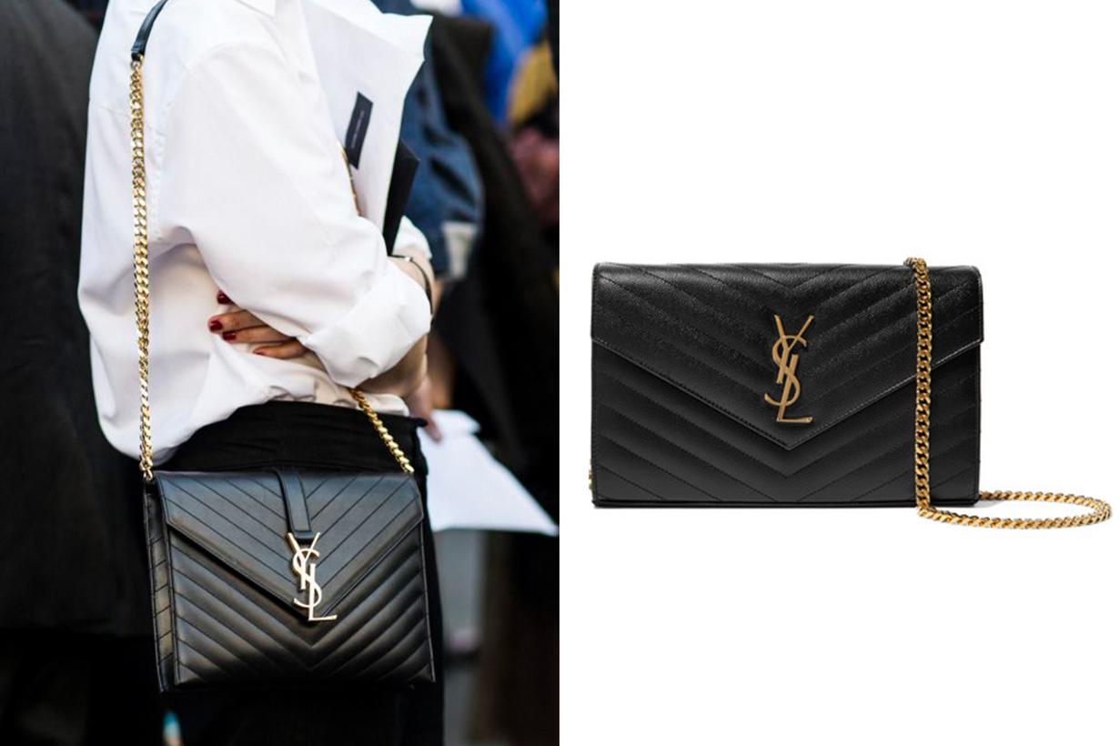 Saint Laurent Monogram Envelope Chain Wallet It Bag Street Style