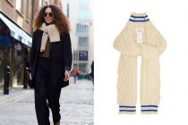 How To Wear a Scarf Cable Knit Cricket Inspired Scarf Winter Street Style