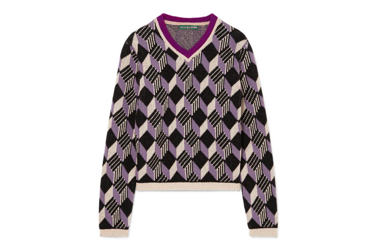 Alexa Chung School Boy intarsia wool sweater