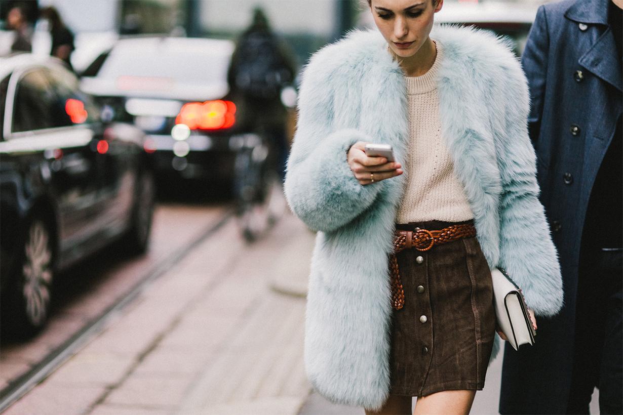 Statement Coat Faux Fur Street Style