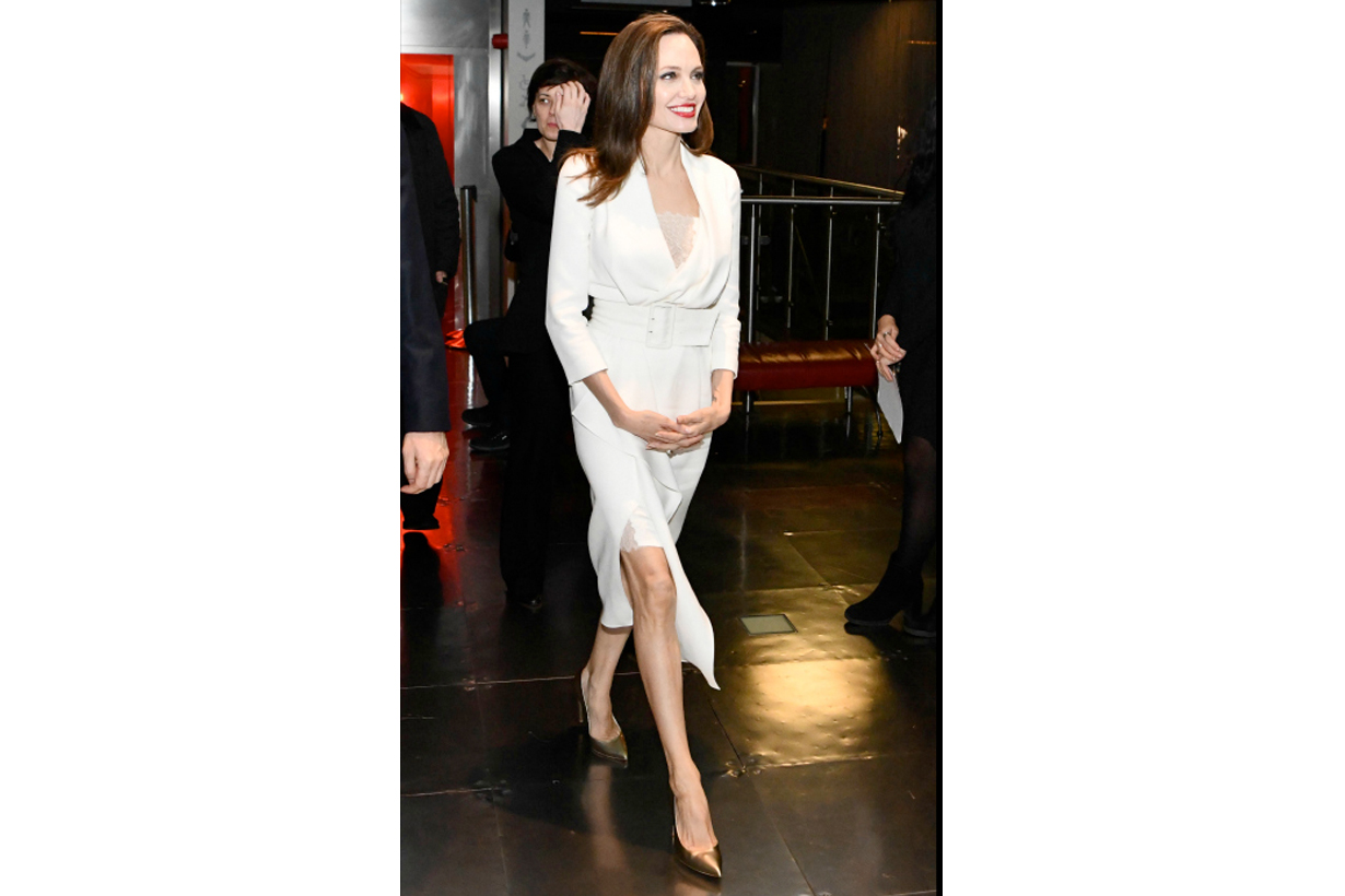 angelina jolie styleing trench coat dress tips