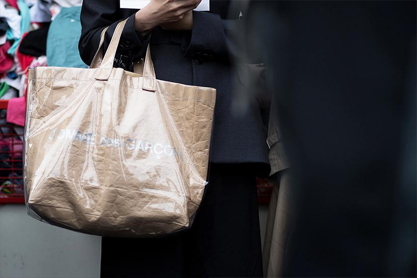 comme-des-garcons-Gucci CROSSOVER Plastic paper bag