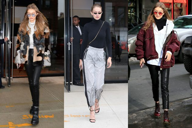 Gigi Hadid Celebrities Outfit Tips Ankle Boots Turtleneck blazer jacket